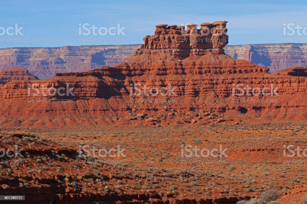Monument Valley Splendor - Valley of the Gods stock photo