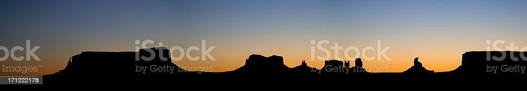 Monument Valley sunrise royalty-free stock photo