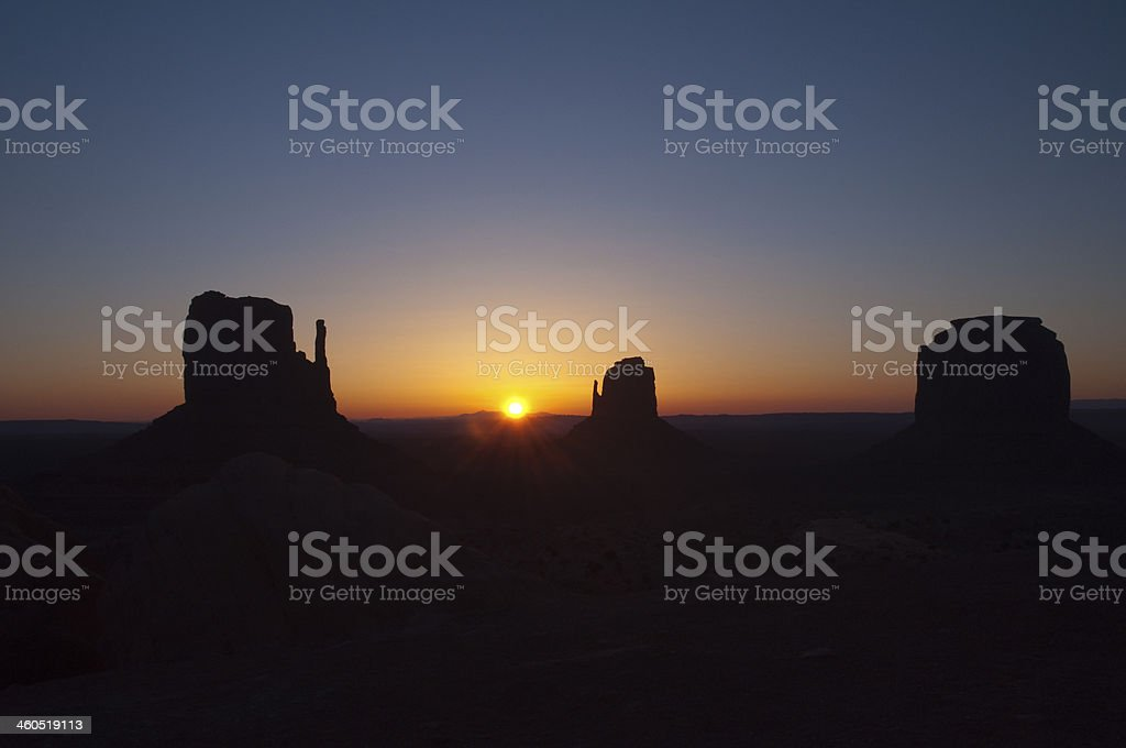 Monument Valley sunrise royalty-free stock photo