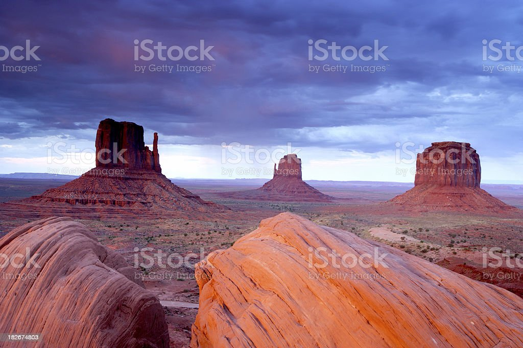 Monument Valley Sunset royalty-free stock photo