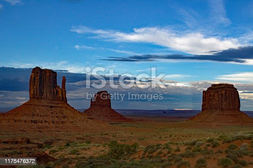 Monument Valley - Utah - USA - The Mitten Buttes and Merrick Butte