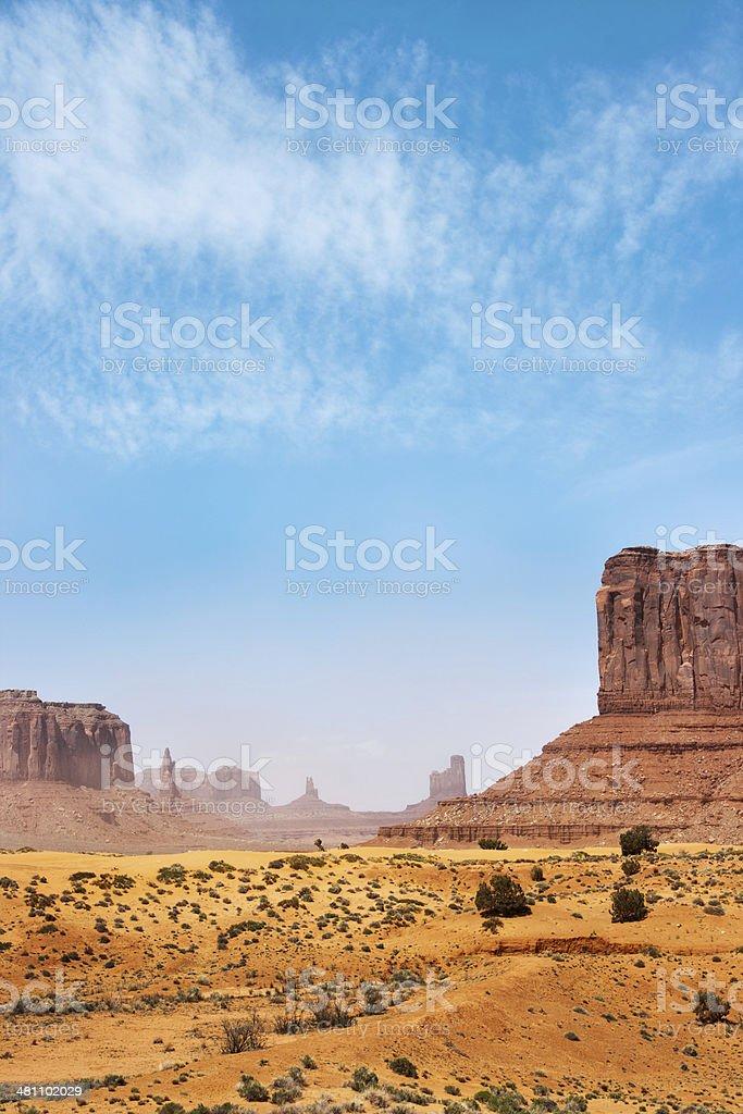 Monument Valley Tribal Park Arizona USA royalty-free stock photo