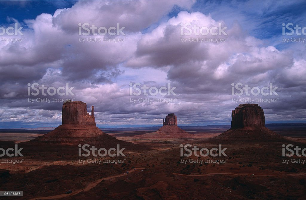 Parco tribale della Monument Valley, Utah foto stock royalty-free
