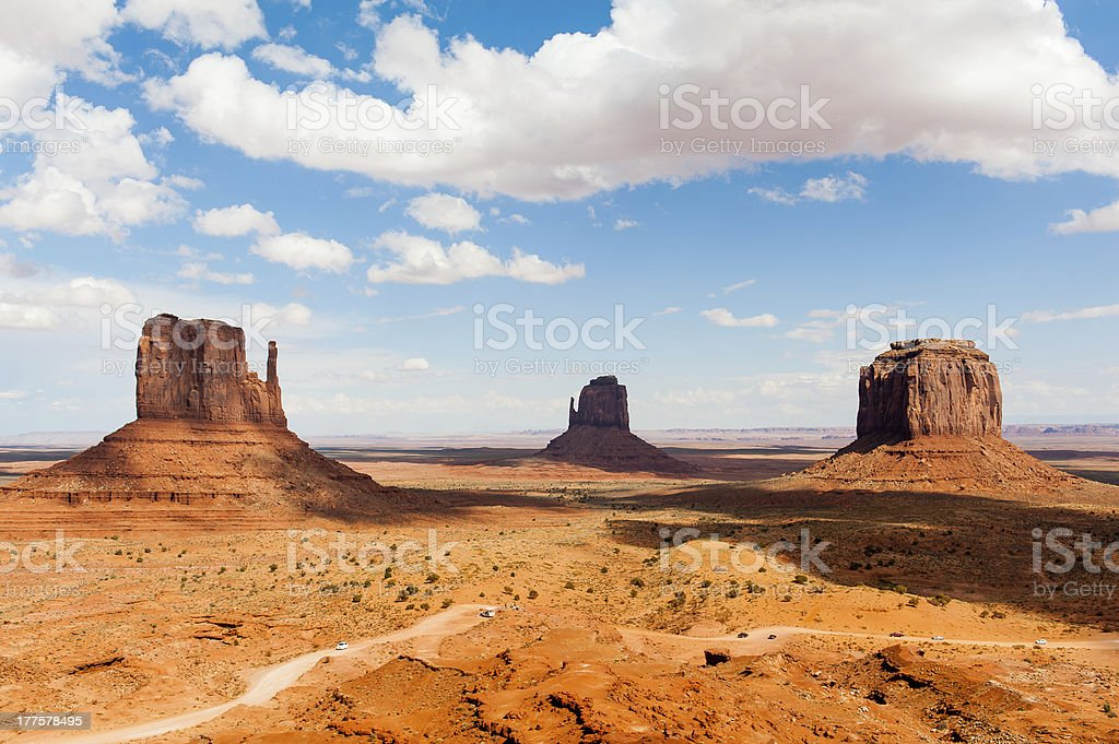 Monument valley under the blue sky royalty-free stock photo