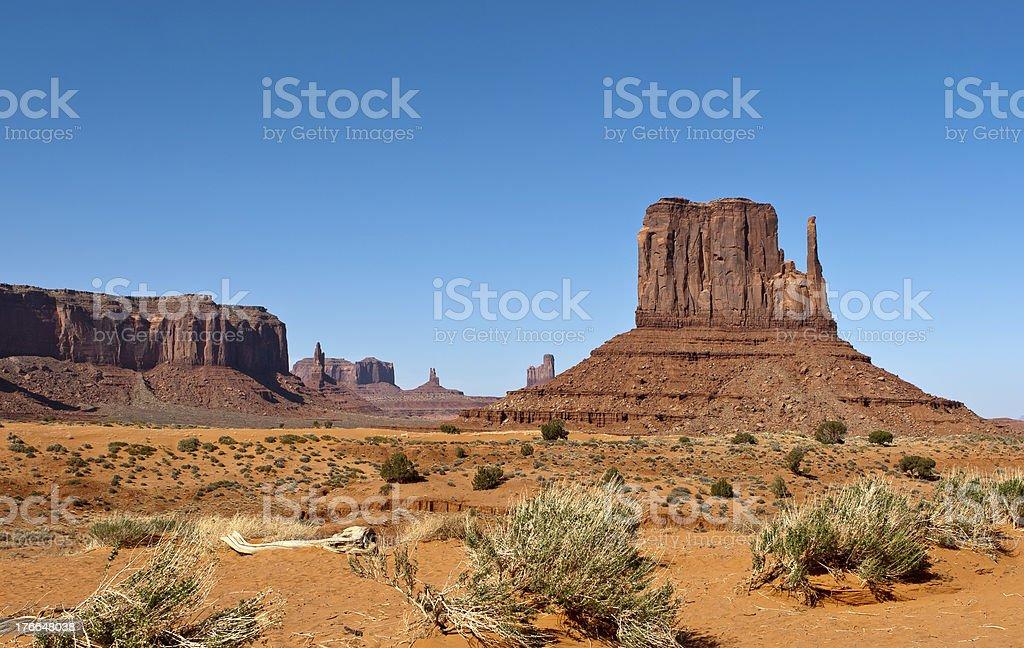 Monument Valley. UNIDOS. foto de stock libre de derechos