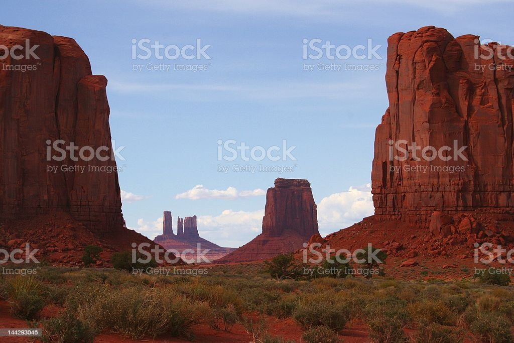 Monument Valley Window royalty-free stock photo