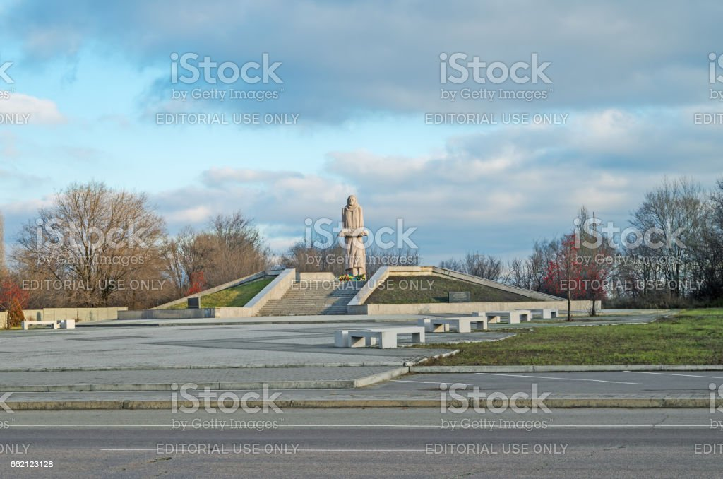 Monument victims of Holodomor stock photo