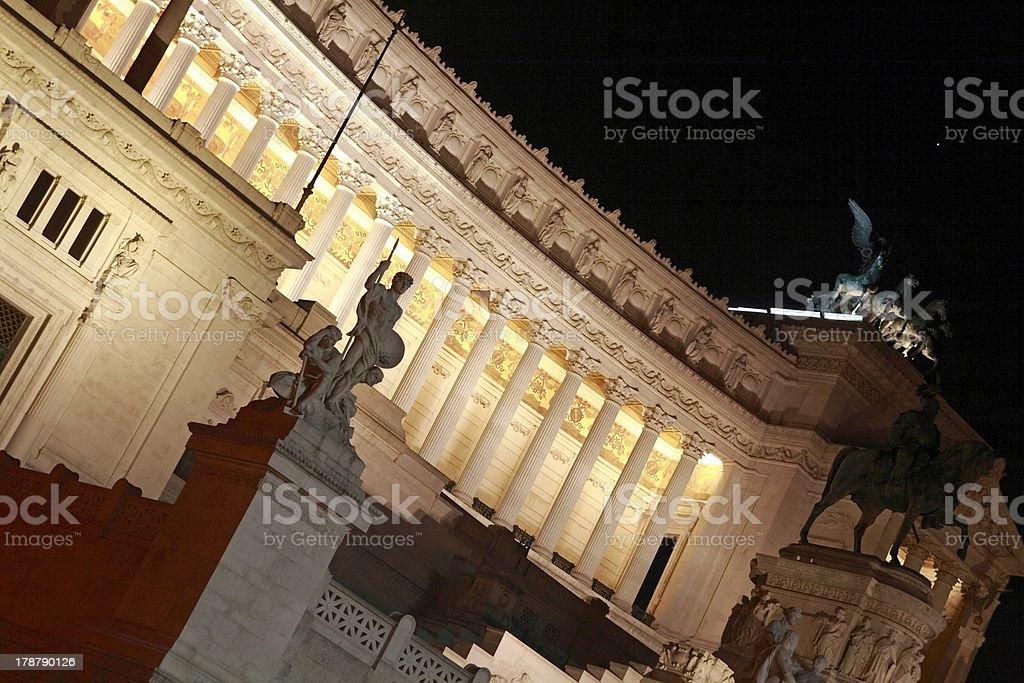 Monument Vittorio Emmanuele II royalty-free stock photo