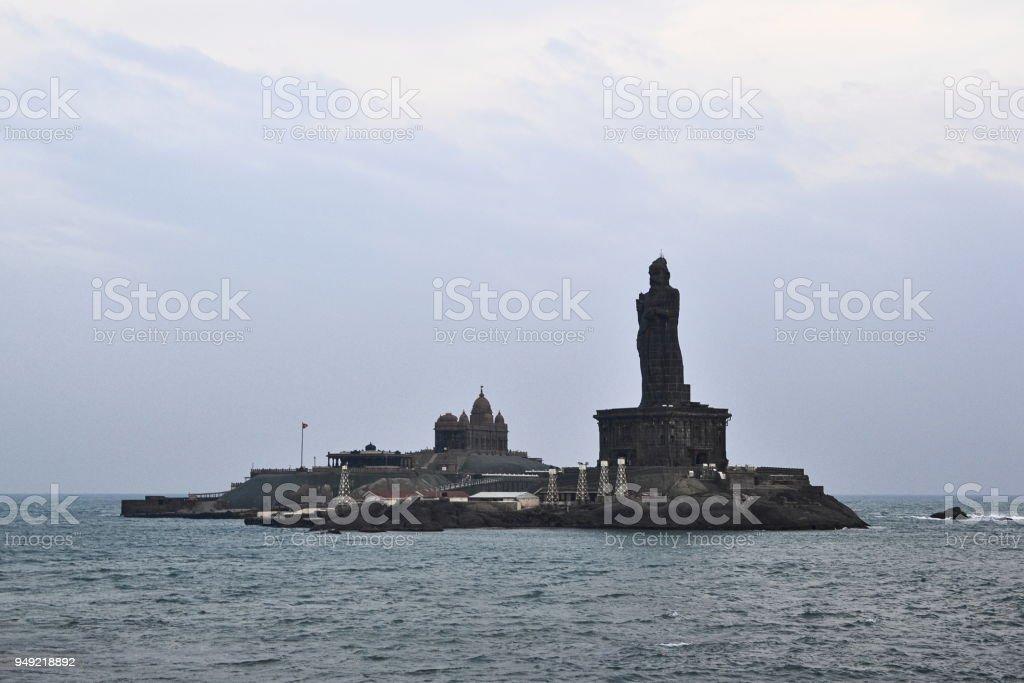 Monument Vivekananda Rock stock photo