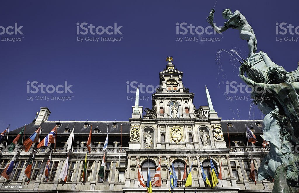 Monumental Antwerp, Belgium royalty-free stock photo