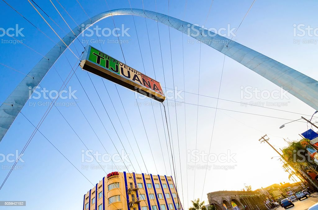 Monumental arch, Tijuana, Mexico stock photo