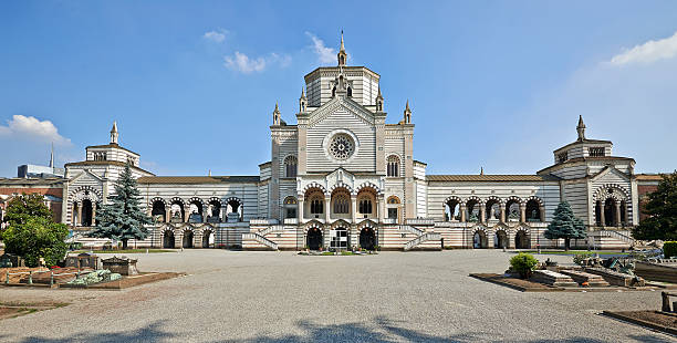 Monumental Cemetery in Milan stock photo