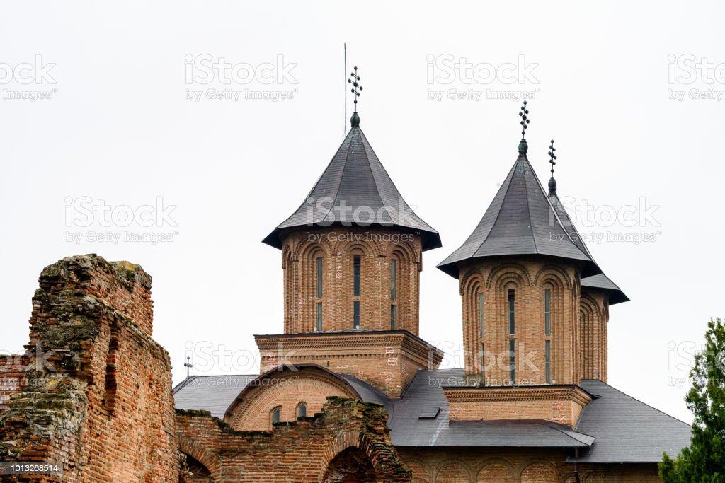 Monumental complex Curtea Domneasca, Targoviste, Romania stock photo