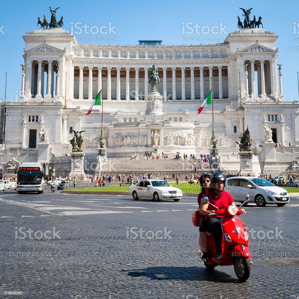 Monumento Nazionale a Vittorio Emanuele II in Rome, Italy stock photo