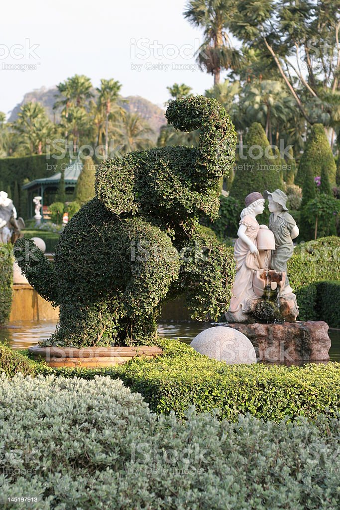Monuments in Nong Nooch Garden royalty-free stock photo