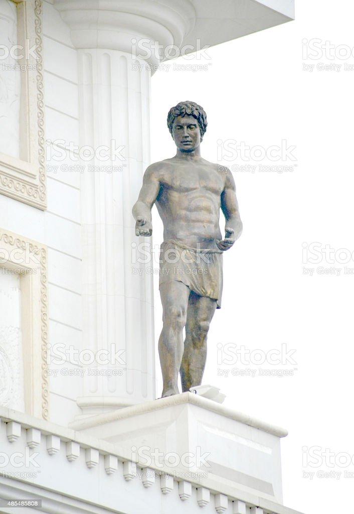 Monuments in skopje, macedonia stock photo