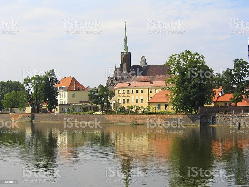 Monuments in Wroclaw 1 royalty-free stock photo