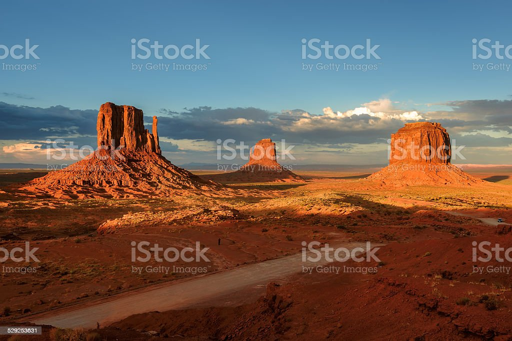 Monuments, Monument Valley, Arizona. stock photo