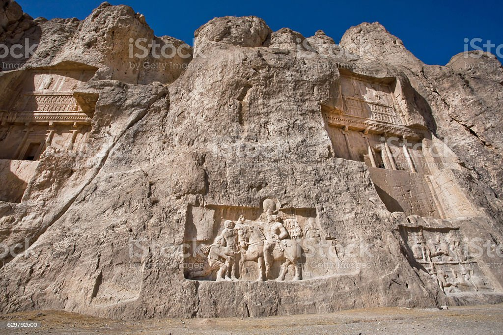 Monuments Naqshe Rustam Ancient Necropolis Near Persepolis Iran Stock Photo Download Image Now Istock