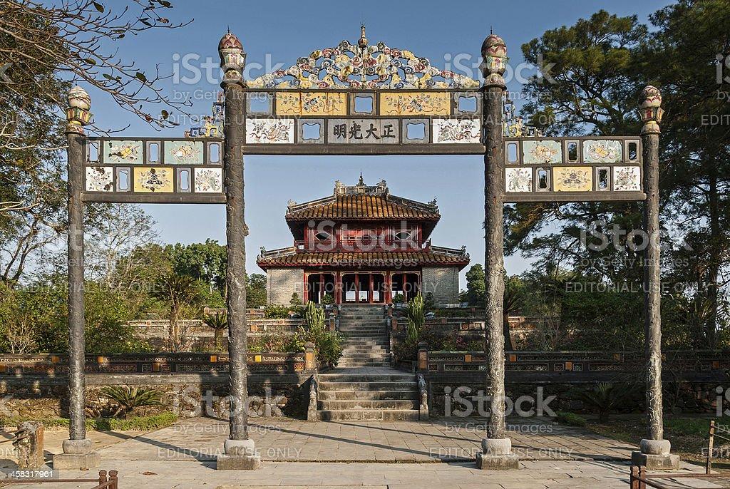 Monuments of Hue, Vietnam stock photo