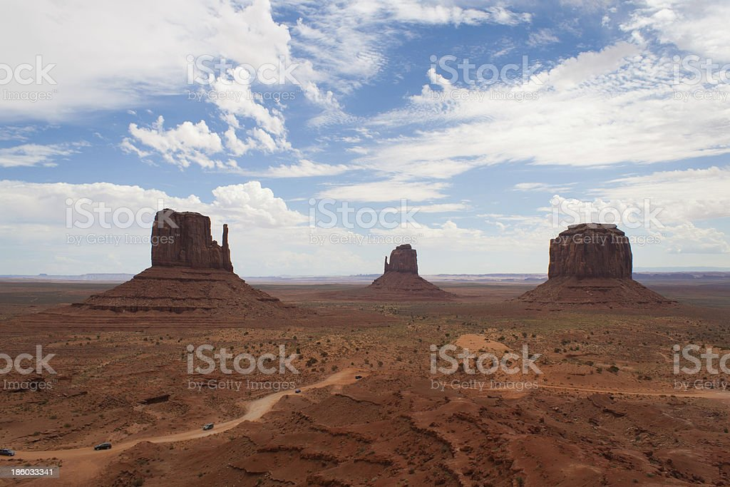 Monuments of Monument Valley royalty-free stock photo