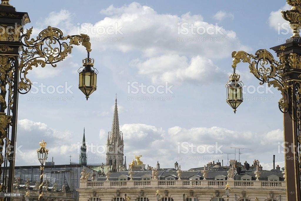 Monuments of Nancy stock photo