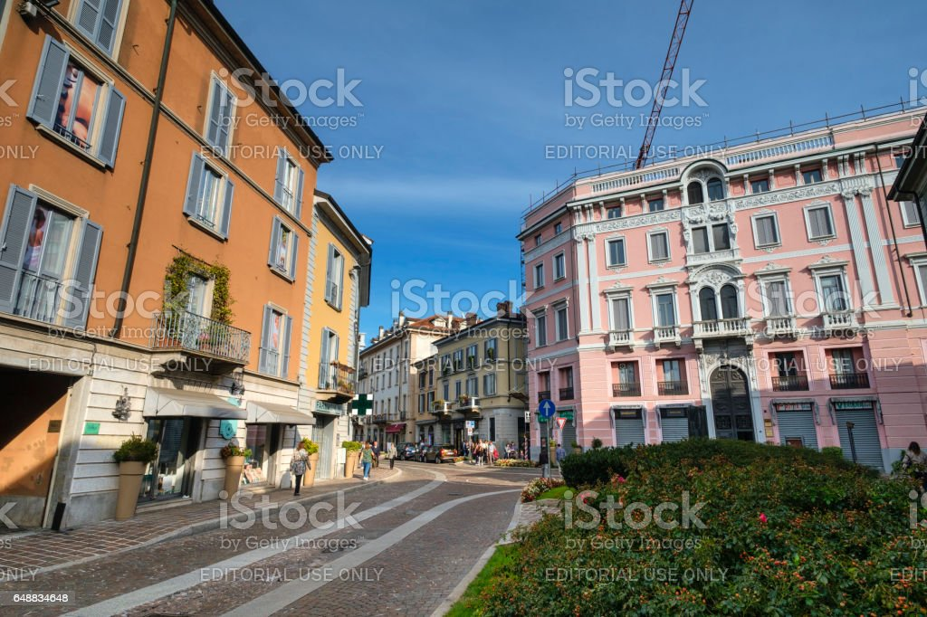 Monza (Italy): historic buildings stock photo