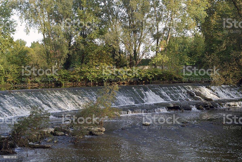 Monza park (Milan, Italy) - Waterfalls royalty-free stock photo