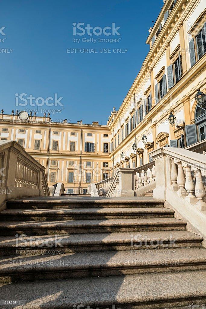 Monza (Italy): royal palace stock photo