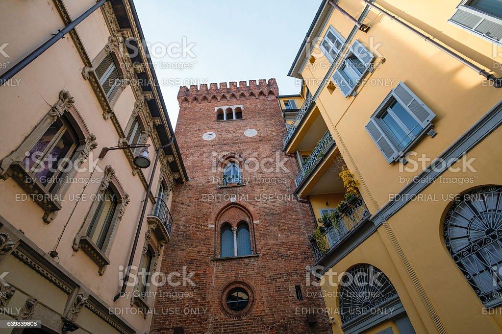 Monza (Italy), the Teodolinda tower stock photo