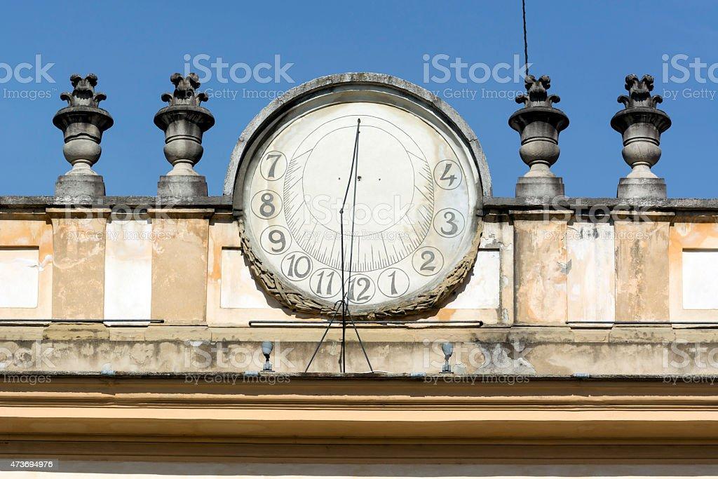 Monza, Villa Reale: sundial stock photo