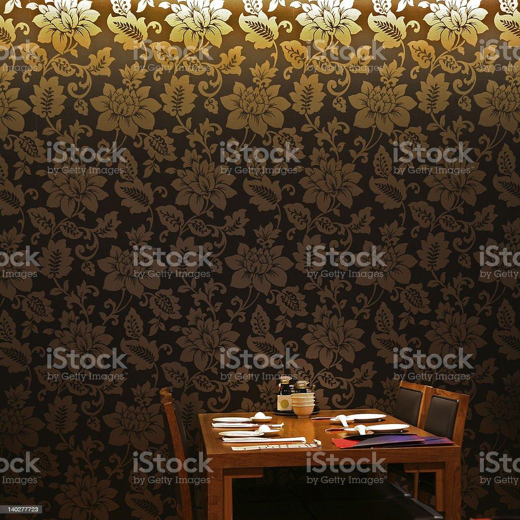Moody asian interiors royalty-free stock photo