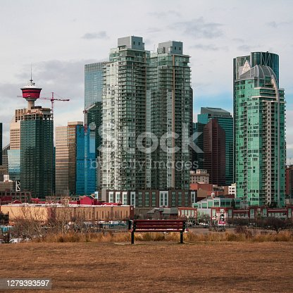 Moody fall day at Calgary. Taken at Scotman's Hill, overlooking the Stampede Grounds.