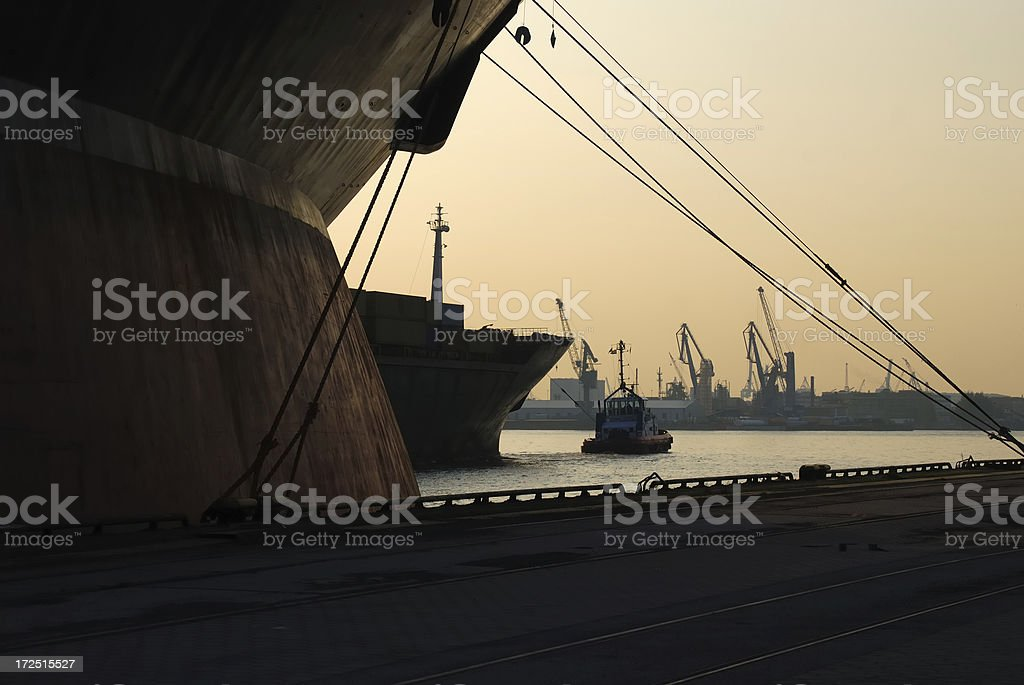 moody harbor royalty-free stock photo