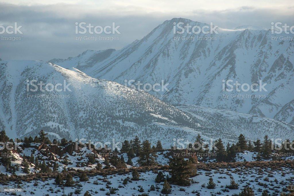 Moody mountain light stock photo