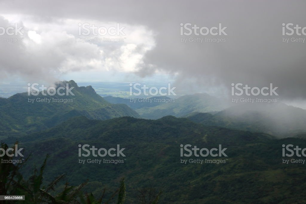 Moody mountain with dramatic sky in rainy day. royalty-free stock photo