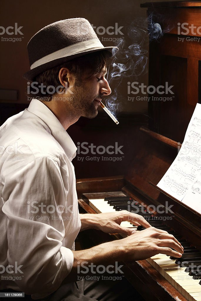 Moody musician royalty-free stock photo