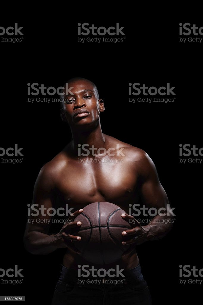 Moody portrait of an athlete! royalty-free stock photo