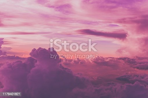 high angle view of purple sky