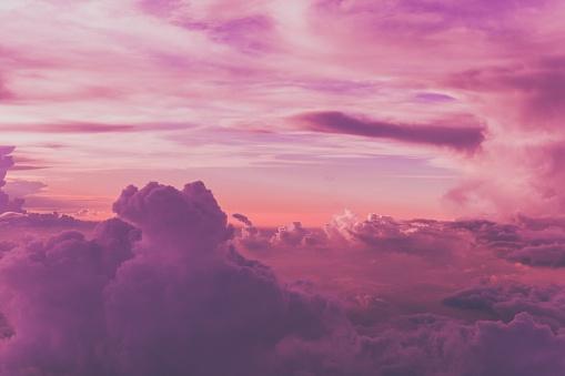 high angle view of purple sky