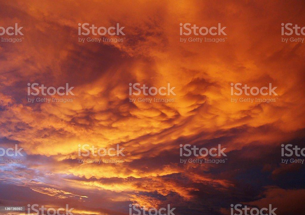Moody Sunset royalty-free stock photo