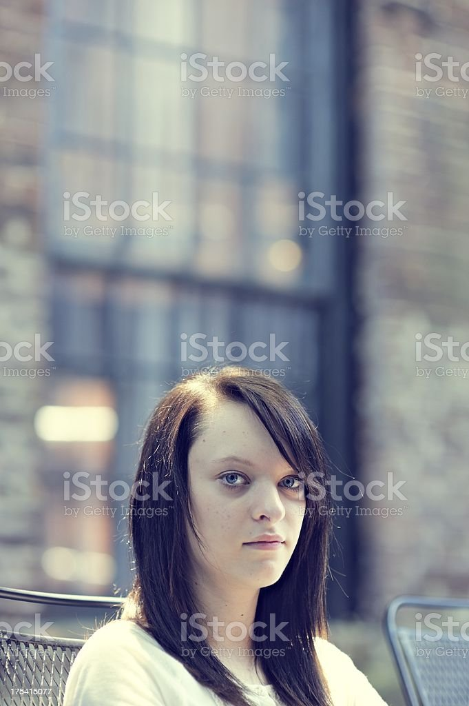 Moody Teenage Girl royalty-free stock photo