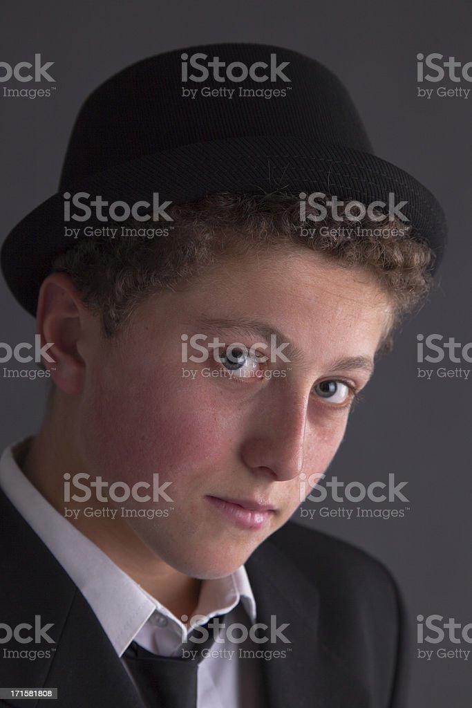 Moody Youth Dressed In Black royalty-free stock photo