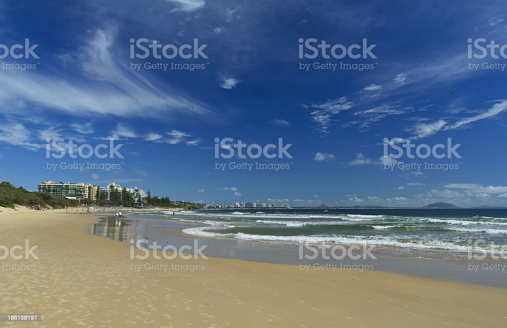Mooloolaba Beach stock photo