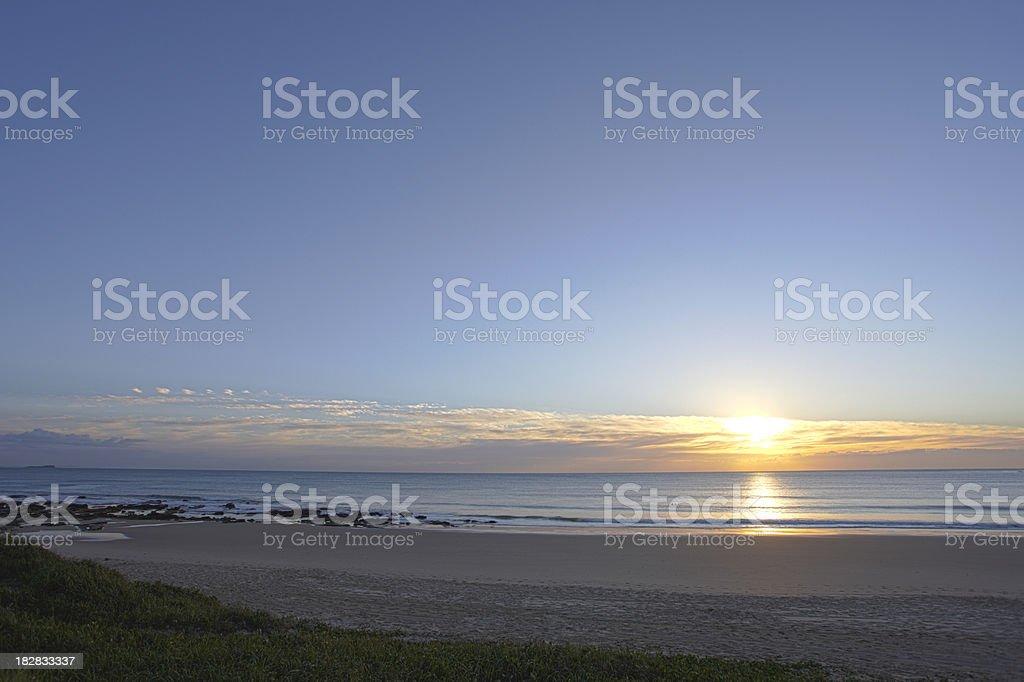 Mooloolaba Beach Sunrise royalty-free stock photo