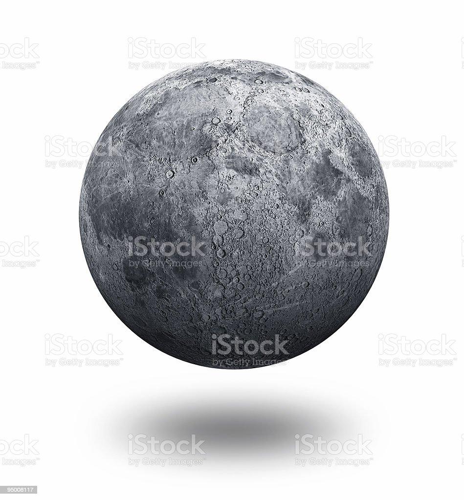 Moon Alone royalty-free stock photo