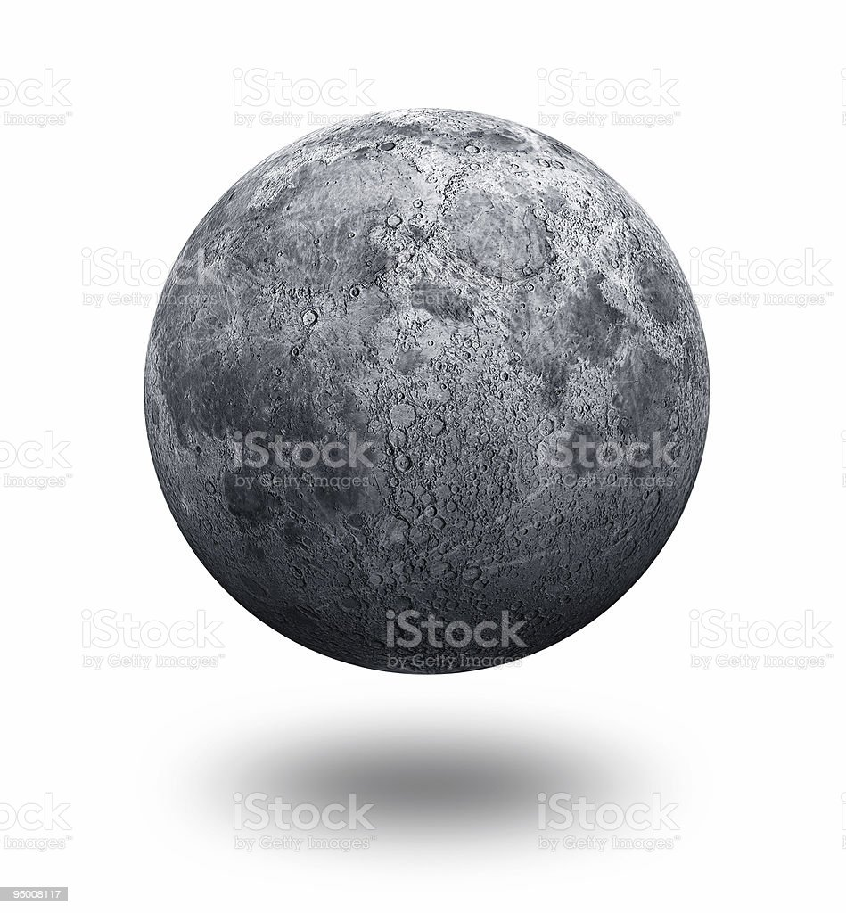 Moon Alone stock photo