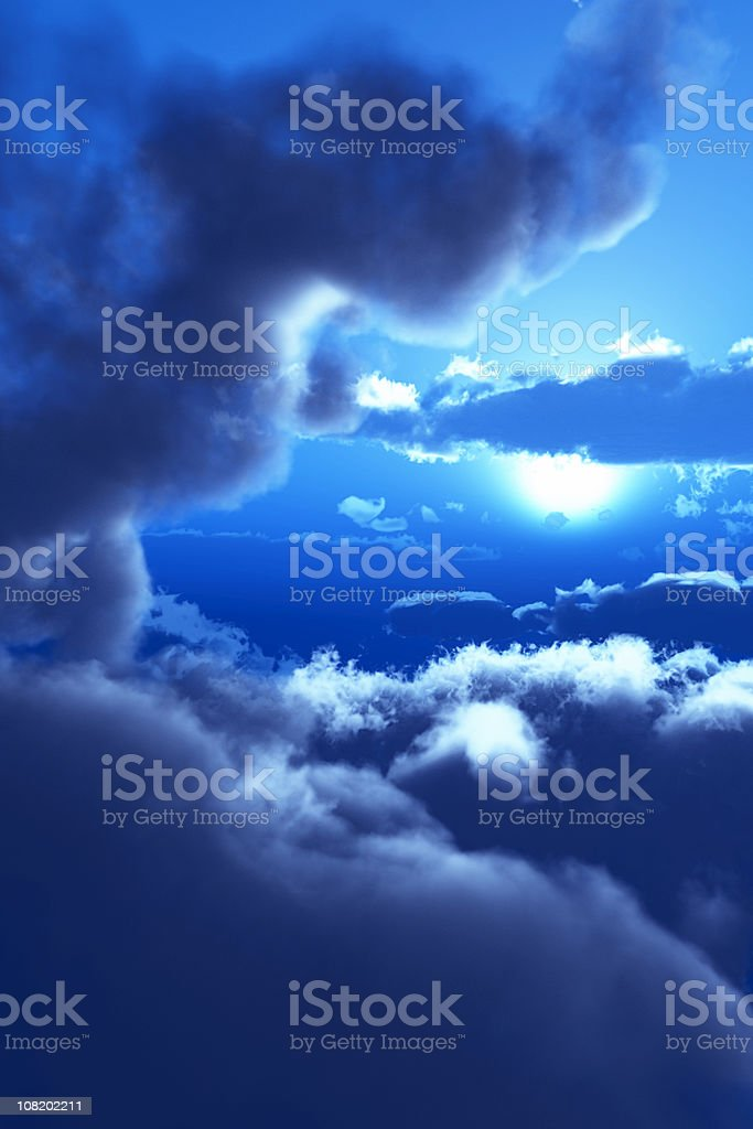 Moon and Clouds royalty-free stock photo