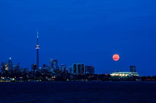 Moon and CN tower