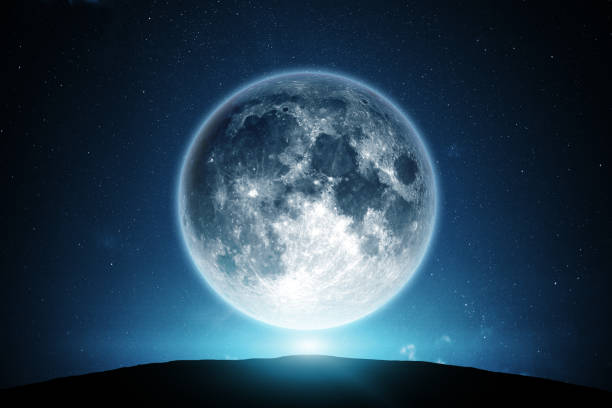 moon and night sky - enigma images stock photos and pictures